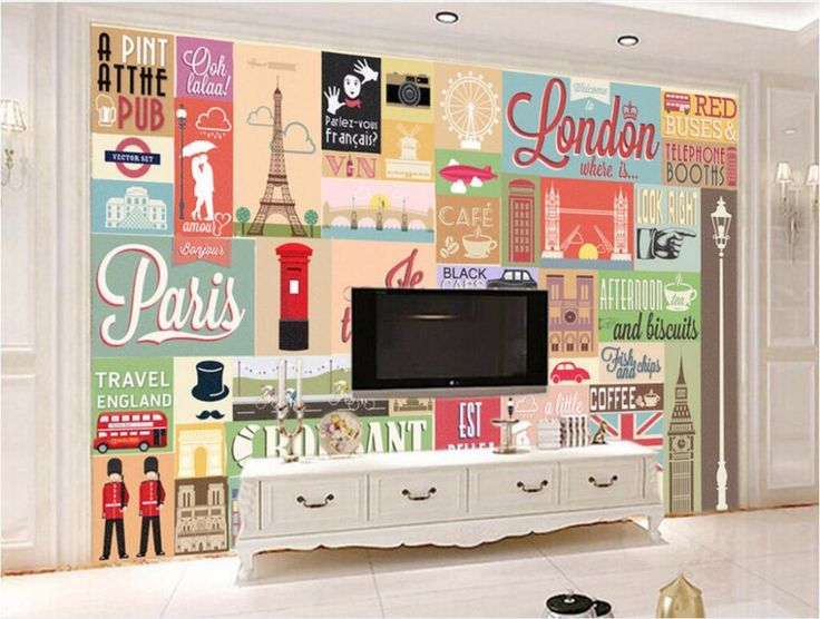 Simple Wdbh Custom Mural D Wallpaper European Stamps Retro Decoration Painting Wall Murals For With Home Design