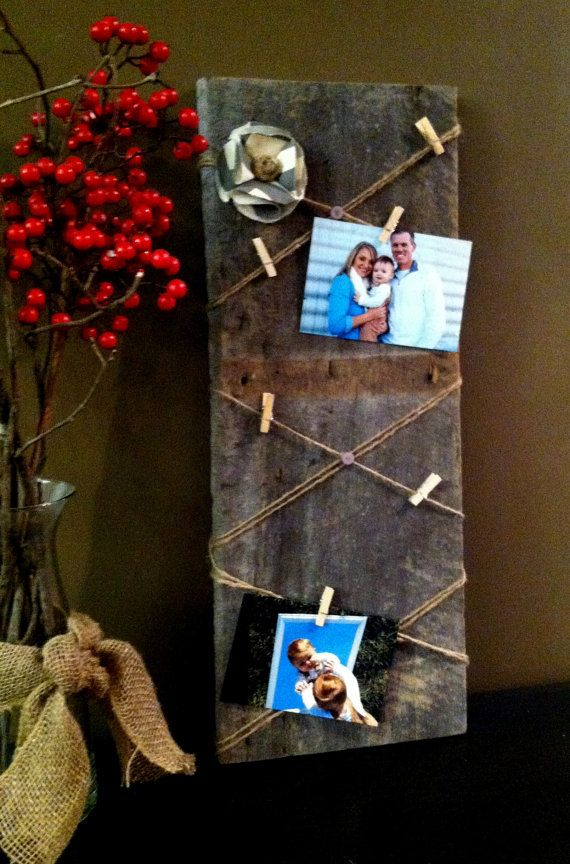 Memory Board Barn Wood by CharmingWillows on Etsy, $40.00