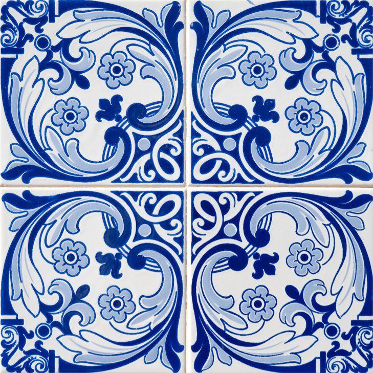 TILES DECALS SET OF 24 Portuguese Tile Decals Stickers for Ceramic Kitchens h13 #AlmaArt #Vintage
