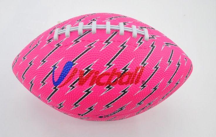 Karet Amerika Sepak Bola Karet Padat Bola Warna Pink