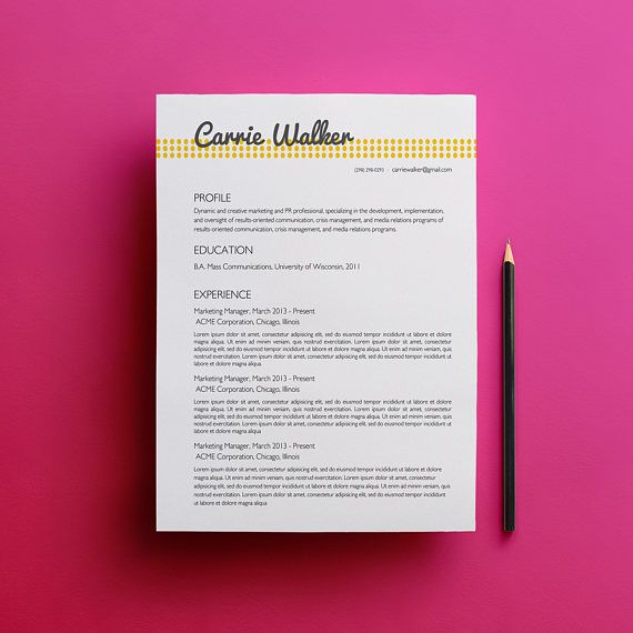 70 best Resume \ Cover Letters images on Pinterest Cover letter - eye catching resumes