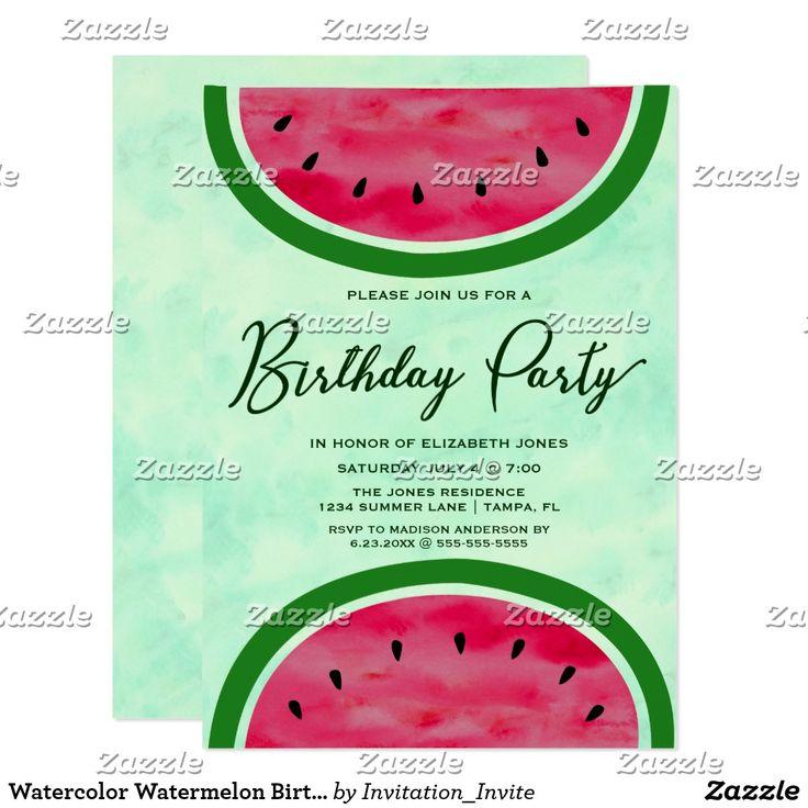 25+ best ideas about watermelon birthday parties on pinterest, Birthday invitations