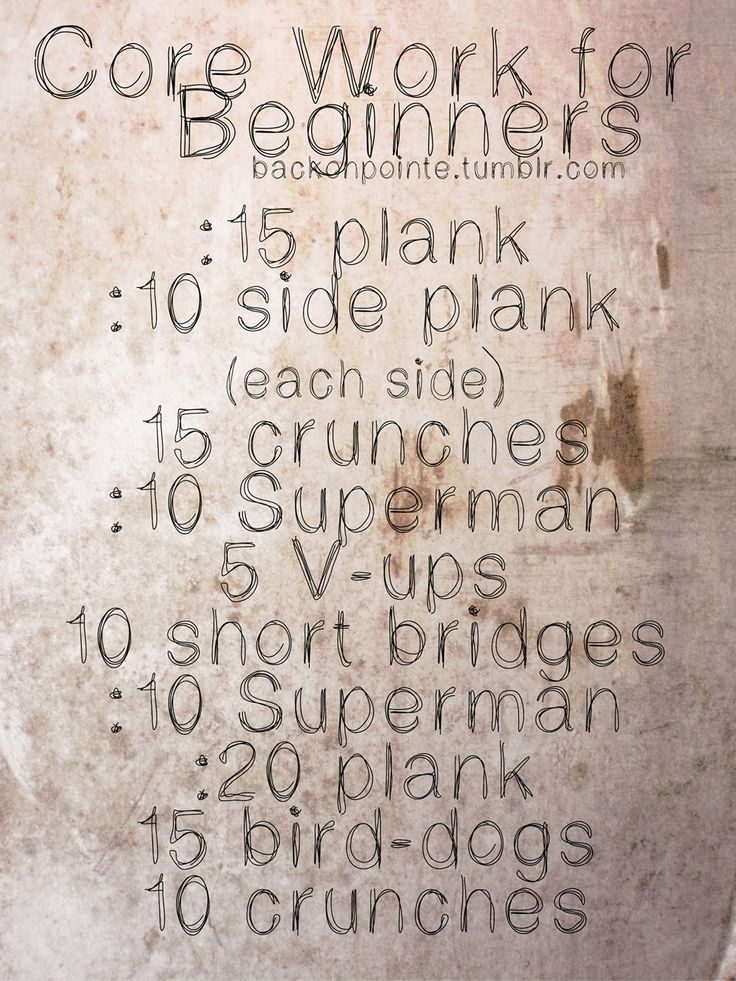 Another beginning ab workout