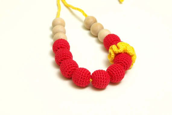 Nursing necklace teething necklace mommy and baby teething #baby #mom #necklace