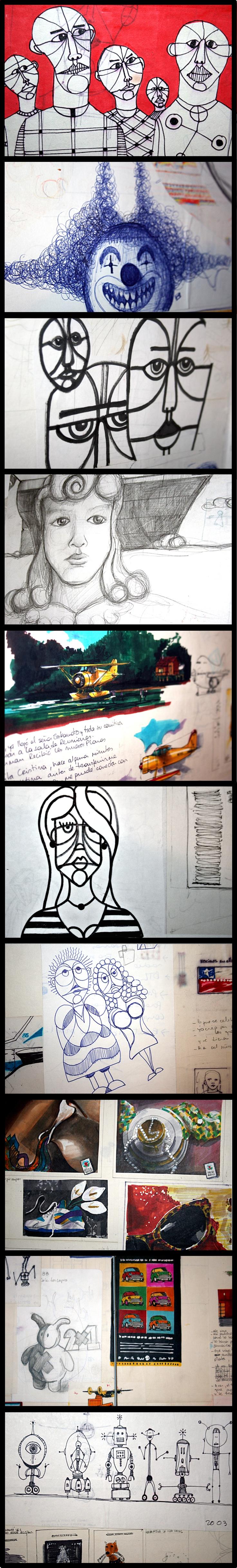 21 años de bocetos