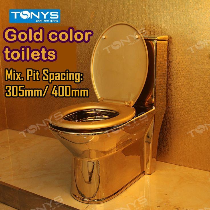 Dubbele orifice sifon Huishoudelijke hotel Goud wc sanitair wc-bril wc waterbesparende pompen wc gold closestool