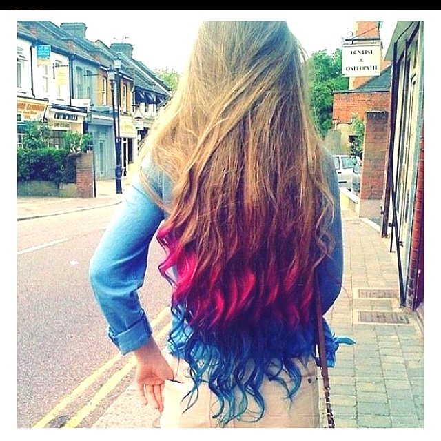 So so pretty layers of color in her hair!