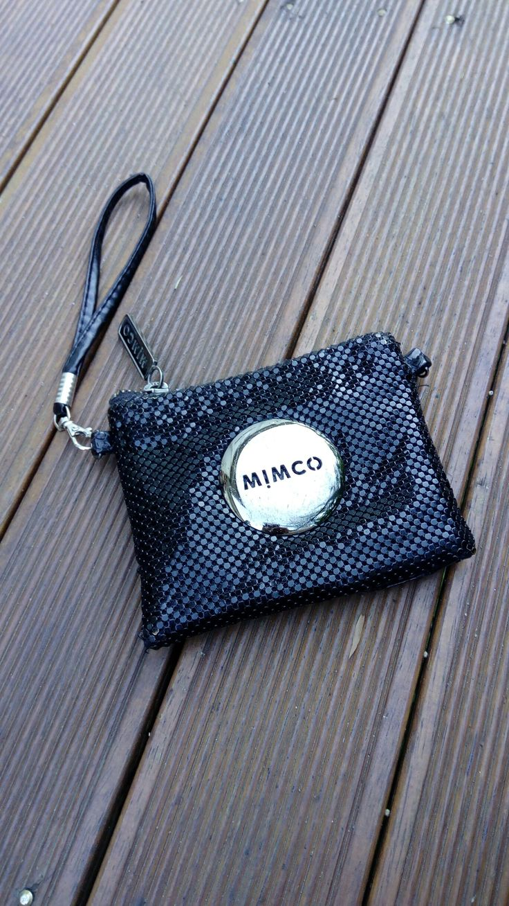Mimco mesh pouch in black
