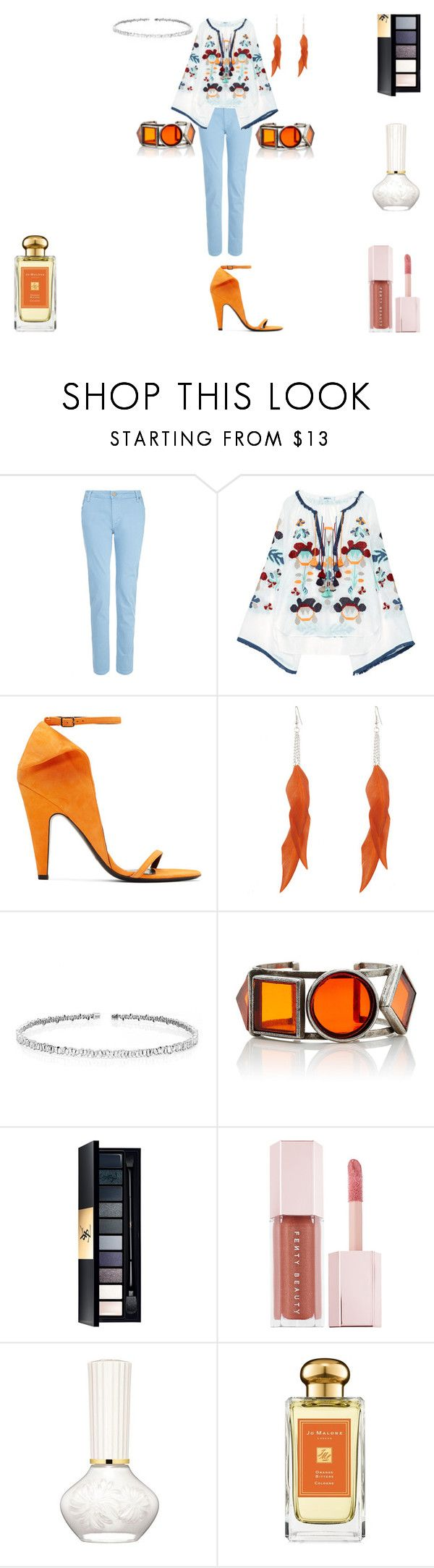 """""""Orange Bitters"""" by rascaldiva ❤ liked on Polyvore featuring dVb Victoria Beckham, March11, Calvin Klein 205W39NYC, Suzanne Kalan, John Lewis, Puma and Jo Malone"""