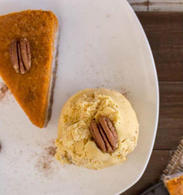 Glutenvrij en lactosevrij pompoenijs met pecan ♥ Foodness - good food, top products, great health