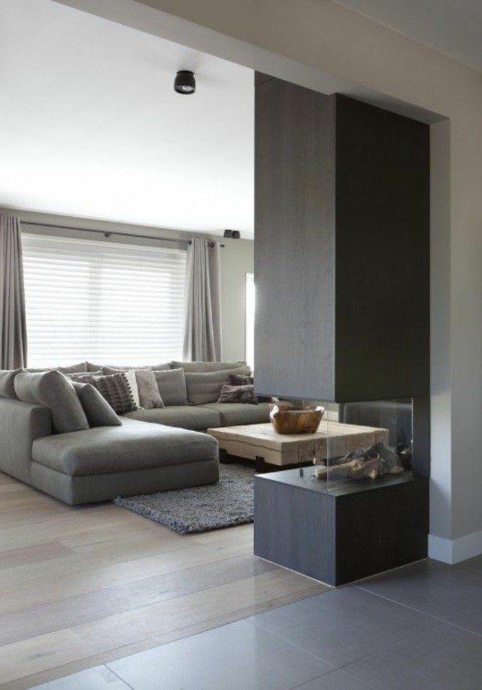 le canapé d'angle pas cher de couleur anthracite pour le salon ultra chic