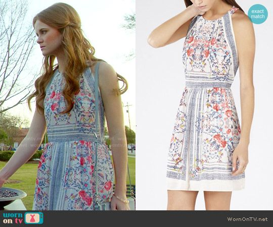 Norrie's floral halter dress on Under the Dome.  Outfit Details: http://wornontv.net/50071/ #UndertheDome