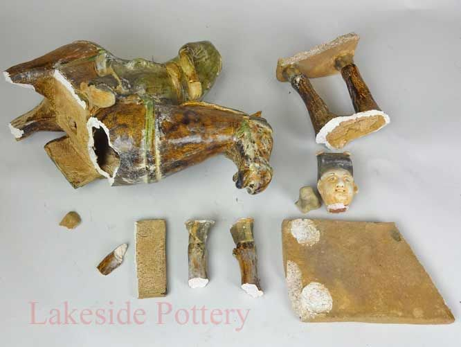 Broken Pottery, China and Ceramic Pictures Before & After Repair and Restoration in Our Lab