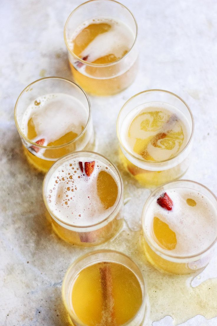 A turmeric, ginger, cinnamon, black pepper elixir lightly sweetened with maple syrup + topped w/ bubbles for a champagne cocktail called, Golden Bubbles.