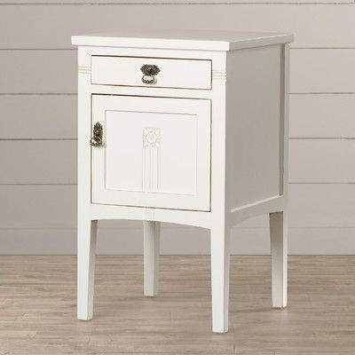 Corrie 1 Drawer Nightstand Color: White - http://delanico.com/nightstands/corrie-1-drawer-nightstand-color-white-603750328/