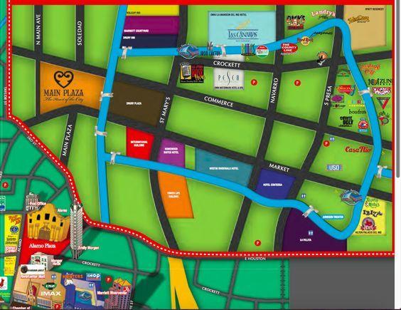 Things to do on Riverwalk, San Antonio. Riverwalk San Antonio Map, Downtown + Alamo