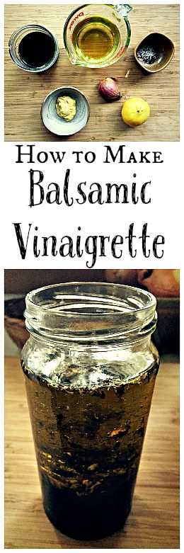 Most store bought salad dressings have weird ingredients that you don't want to eat. It's surprisingly  easy to make your own tasty balsamic vinaigrette!