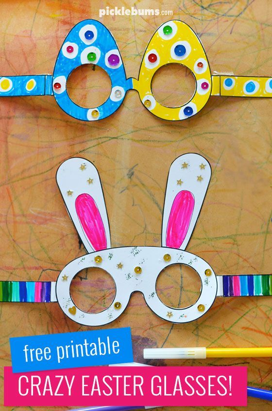 Fun free printable Easter glasses. Make some egg glasses or some bunny glasses! #freeprintable #Easter #kidsactivities