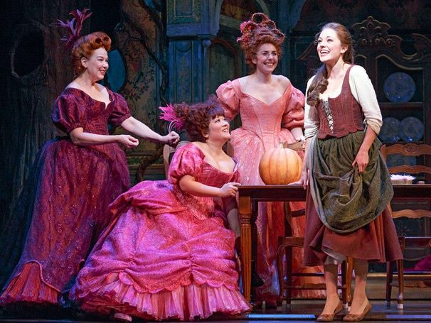 Broadway's Cinderella with Stepmother and Stepsisters (original broadway cast)