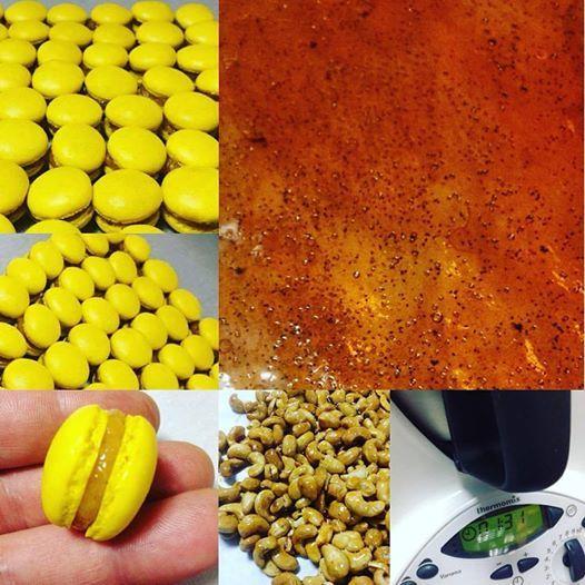 Macaron lemon Filling praline cajoux,citron,vanilla #macarons #citron #cajoux #praline #vanillabeans #argiris_papastavrou #apapastavrou #patisserie #λεμονι #κασιους #πραλινα #μακαρον #κιτρινο #pastry