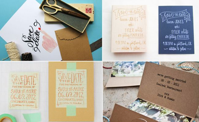 Send guests a save-the-date made by you, but that looks totally professional? It can be done. You just need to arm yourself with a few craft