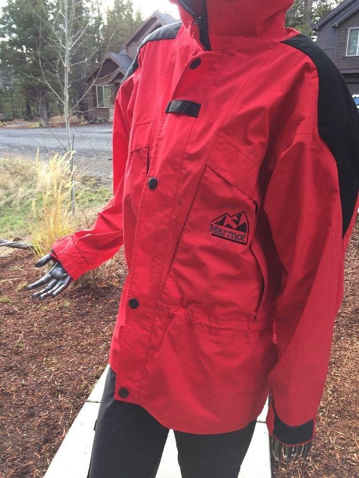 MARMOT 2 PLY GORE TEX RED MOUNTAINEERING Ski Snow Jacket Men's Small  | eBay