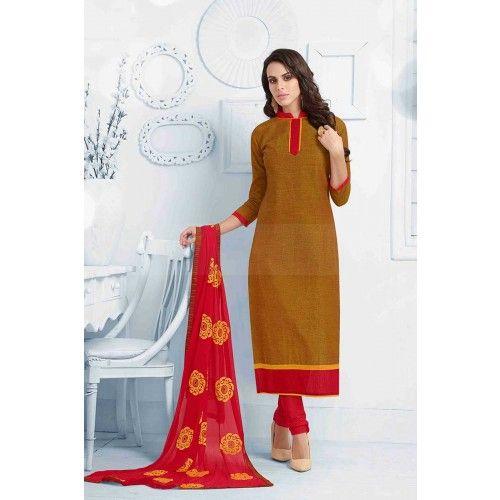 MUSTARD COTTON CHURIDAR SUIT Price - £25.00 #IndianDresses #FashionUK #DesignerDresses #CollectionUK #ShopkundUK