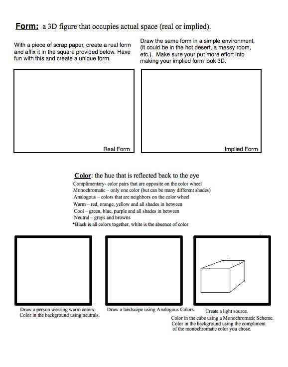 Printables Elements Of Art Worksheets 1000 images about elements and principles of art design worksheets on pinterest sketchbooks of