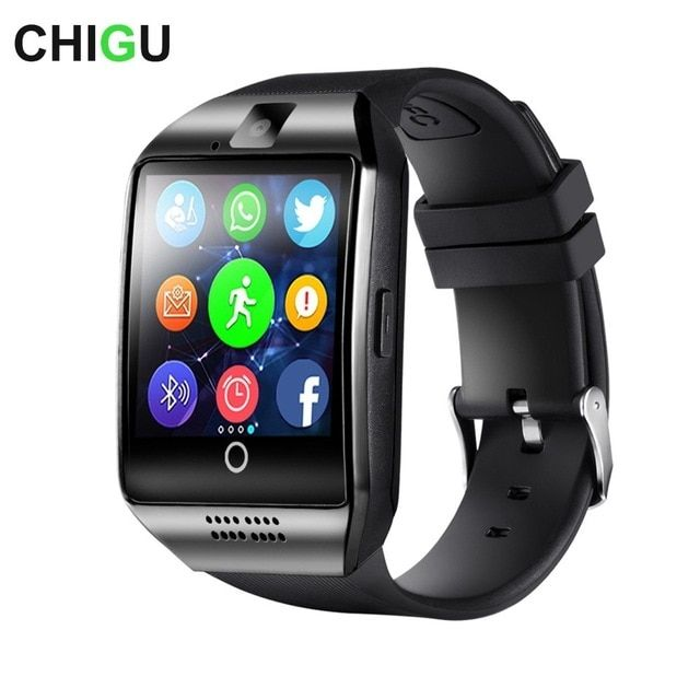 d9f5ea805 New CHIGU Q18 Bluetooth Smart Watch With Touch Screen Camera Support TF Sim  Card for Android Phone Men Smartwatch Review