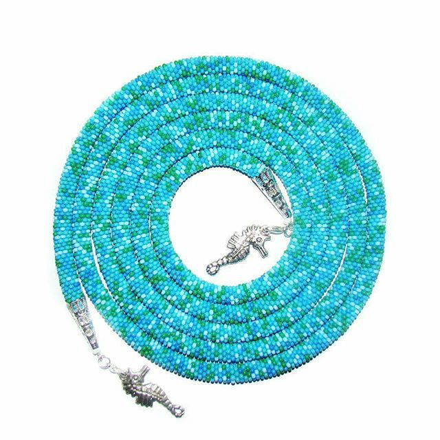 WEBSTA: @Regrann from @viverrus - Продается морской лариат! Длина 180 см толщина 7 мм. 1500 руб. в Питере 1700 с пересылкой. #handmade #lariat #necklace #beading #beadwork #sea #blue #jewelry #jewellery #spb #beadcrochet #beads #beadedjewelry #лариат #спб #бисер #подарки #украшения #бисерныйжгут #море #морской #голубой #ручнаяработа #хэндмейд #подаркиручнойработы #подаркиспб #продается #продажа #colorful #cool