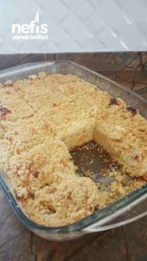 Şeftalili Kremalı Kek ( Çok Farklı )!!!!
