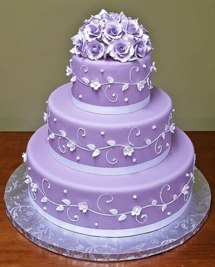Purple Wedding Cakes (just the shade)