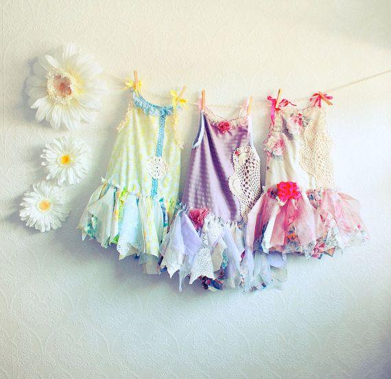 Fairy Dress - no instructions: Flowers Girls Dresses, Shabby Chic, Parties Dresses, Girls Birthday Parties, Fairies Dresses, Chic Fairies, Flower Girl Dresses, Children Clothing, Flower Girls