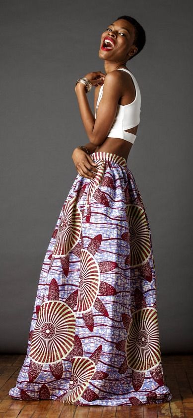 African Print Maxi. The Cassada Maxi skirt is a classic full skirt gently gathered and sits comfortably at the waist. Ankara | Dutch wax | Kente | Kitenge | Dashiki | African print dress | African fashion | African women dresses | African prints | Nigerian style | Ghanaian fashion | Senegal fashion | Kenya fashion | Nigerian fashion | Ankara crop top (affiliate)