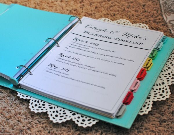 diy wedding planner binder