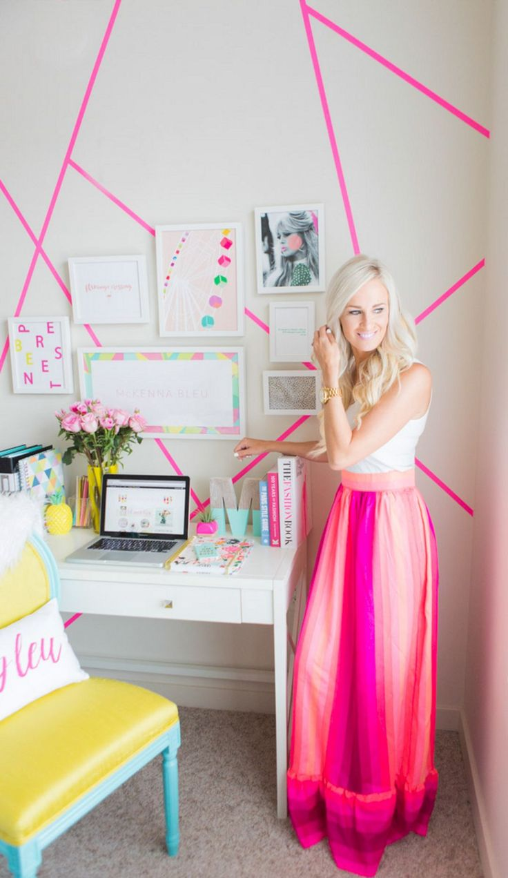 Top 25+ Most Romantic Pink Home Offices Color Scheme Ideas http://goodsgn.com/interior/25-most-romantic-pink-home-offices-color-scheme-ideas/