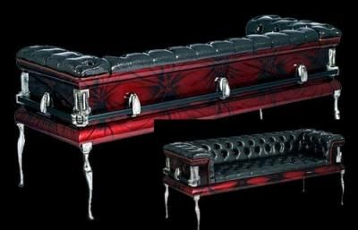 Red Black Coffin Couch Home Living More Pinterest