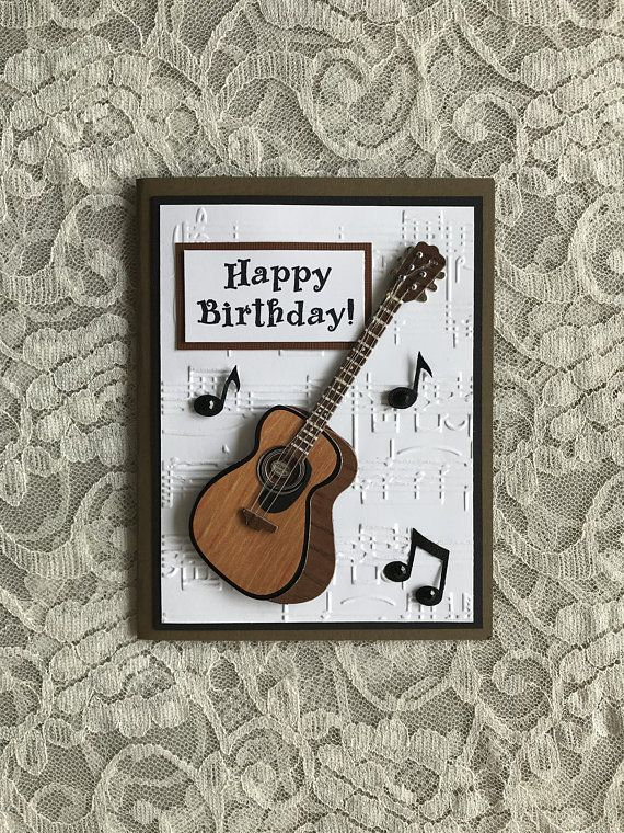 Superb Greeting Card Handmade Ooak Card For Guitarist Music Lover Personalised Birthday Cards Cominlily Jamesorg