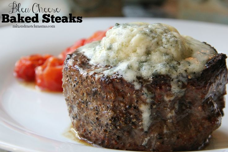 Dinner Tonight: Bleu Cheese Baked Steaks
