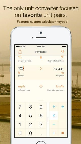 Units convert | a customizable iOS 7 unit converter with favorites