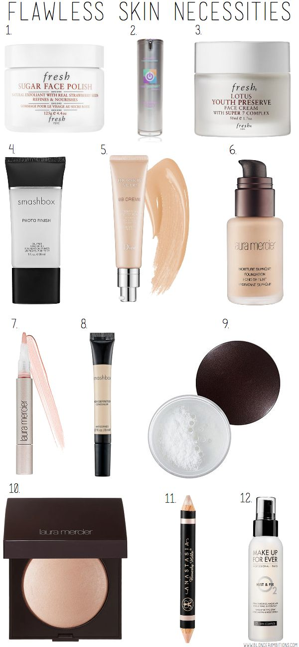 BLONDER AMBITIONS FLAWLESS SKIN NECESSITIES. foundation. skin. dewy. makeup. clear skin. fresh skin.