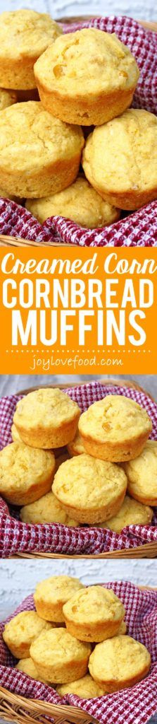 Creamed Corn Cornbread Muffins - these moist and delicious muffins are so quick and easy to make using a homemade mix.