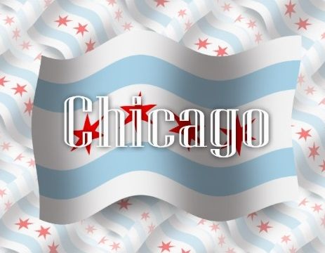 Flaggen / Flags - Chicago, Illinois - Vereinigte Staaten von Amerika / United States of America / USA