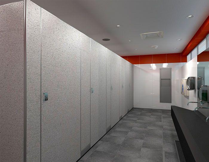 Influenciado del estilo europeo y medio oriente.  Está diseñado para áreas donde se requiere ''extrema'' privacidad y seguridad del usuario. #Mamparas #Decoración #Sanimodul #Interiores #Baños #Oficinas #Sustentable #Aluminio
