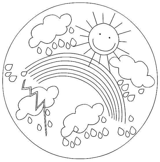 Mandala da colorare per bambini sole arcobaleno e for Sole disegno da colorare