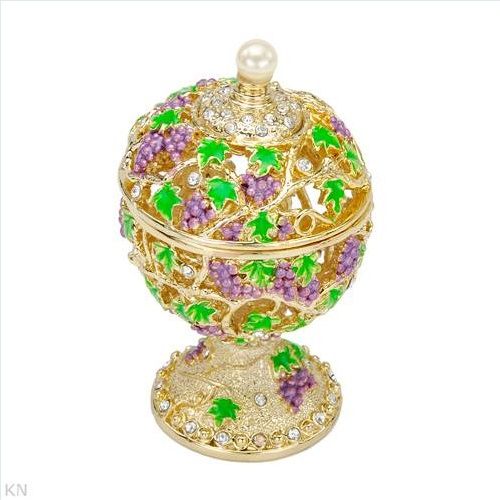 Nice Accessories with Precious Stones - Genuine Faux pearl and Stal Made of Yellow Base metal and Multicolor Enamel