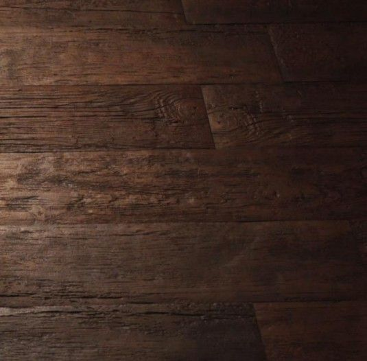 Looks like aged wood flooring, doesn't it? Nope - ceramic tile. Perfect for a bathroom.