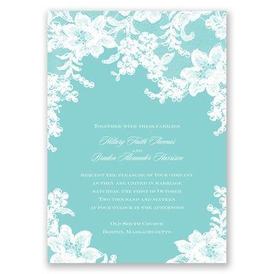 Lace Fantasy - Spa - Invitation | Invitations By David's Bridal