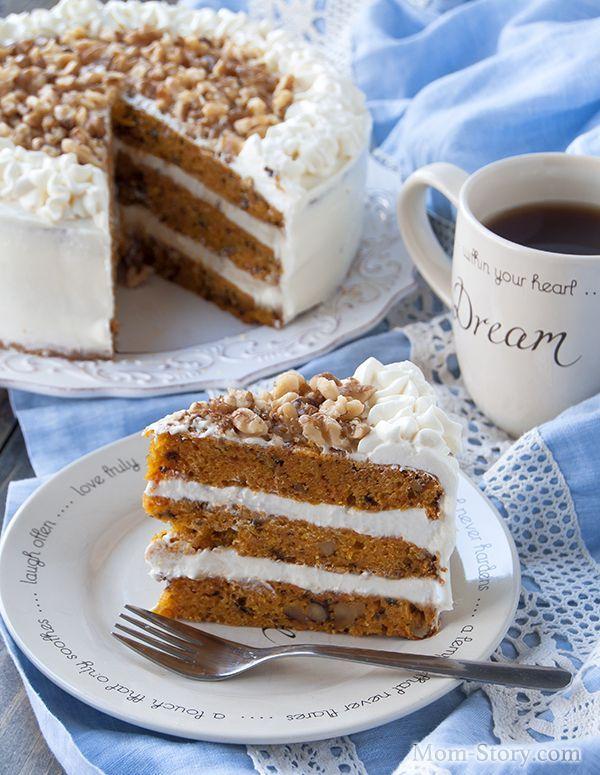 морковной торт в разрезе