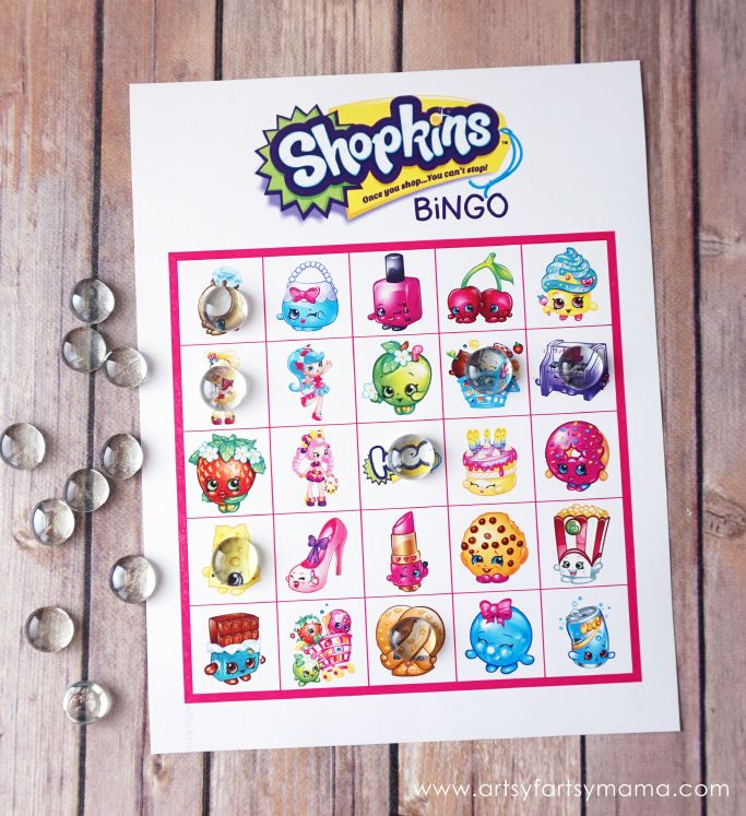 Download Free Printable Shopkins Bingo to play at your Shopkins parties!